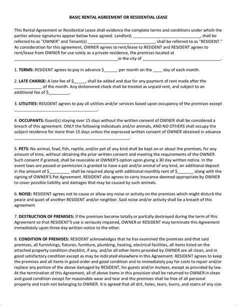 lease a 4 basic lease agreement template teknoswitch