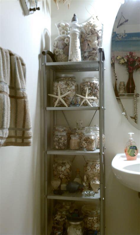 Seashell Bathroom Ideas by My Nautical Sea Shell Themed Bathroom Decor