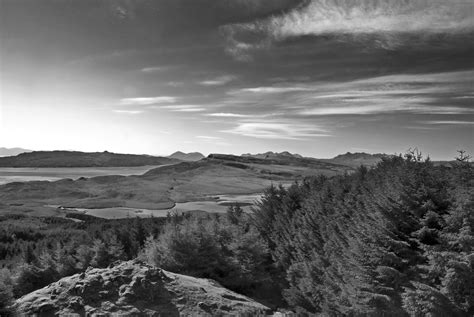 Filebeautiful Landscape In Black And White, Scotland