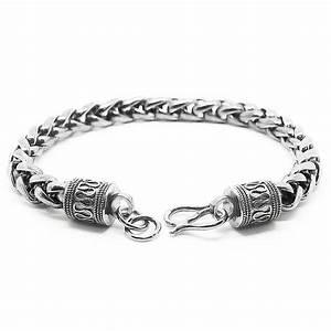 Bracelet En Argent Homme : bracelet chaine en argent femme ~ Carolinahurricanesstore.com Idées de Décoration