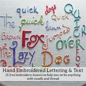 hand embroidery lettering and text index needlenthreadcom With hand lettering machine