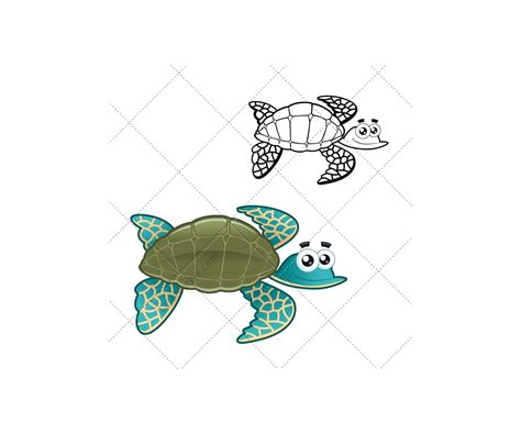sea animal vector pack water turtle aquatic fish crab