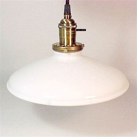 pendant industrial style light fixture w white shade