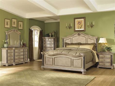 bedroom sets with marble tops white wash finish classic 5pc bedroom set w marble tops