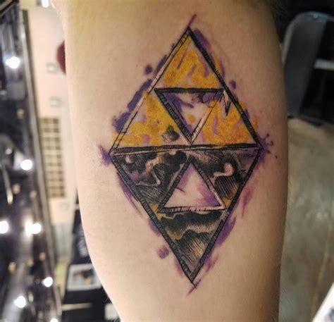 link  worlds triforce tattoo zelda