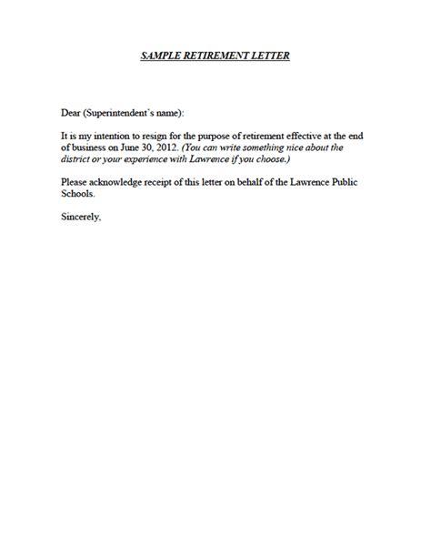 simple retirement letter retirement letter sles template free 8744