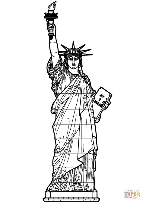 statue  liberty coloring page  printable coloring