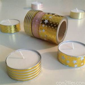 Masking Tape Doré : diy des bougies customis es avec du masking tape ~ Teatrodelosmanantiales.com Idées de Décoration