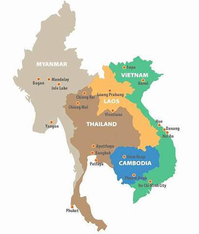 Indochina Map Guide Countries Customer Travel