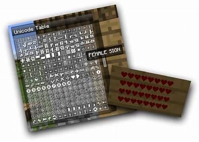 Minecraft Text Rainbow Colored Code Unicode Symbols