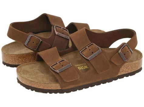 Birkenstock Milano Hunter Brown Leather Men's Sandals