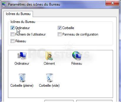 plus de bureau windows 7 ajouter ou retirer des icônes système du bureau windows 7