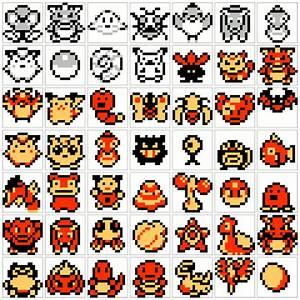 Original Pokemon sprites from original games (Red, Blue ...