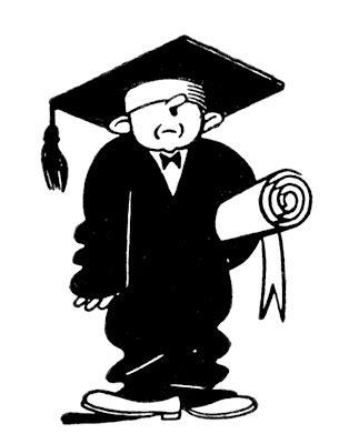 quirky retro graduate clip art education  graphics