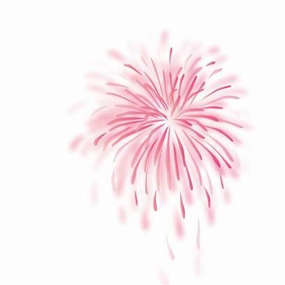 Fogos Rosa Fireworks Artificio Neon Clipart Sticker