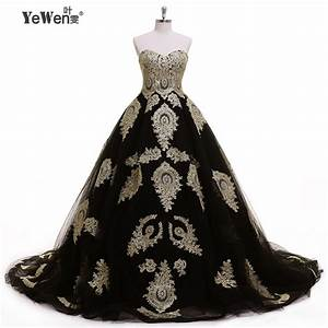 aristocratic style gold black sweetheart formal dress With black and gold wedding dresses