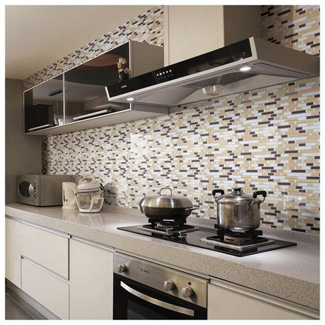 kitchen wall backsplash travertine subway tile kitchen backsplash with a mosaic