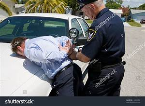 Police Officer Handcuffing Arresting Well Dressed Stock ...