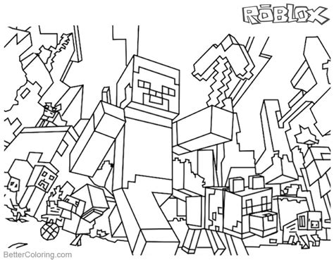 Kleurplaat Roblox Noob by Minecraft Coloring Pages Roblox Coloring Pages Free