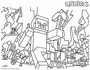 Minecraft Coloring Pages Roblox Coloring Pages Free