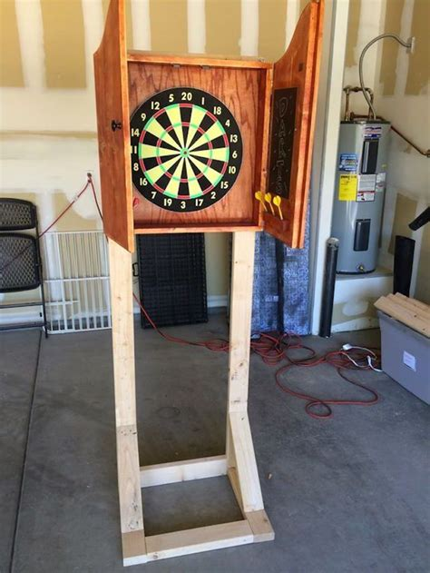 build  outdoor dartboard stand diy projects