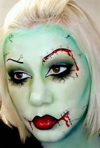 Zombie Schminken Bilder : zombie gesicht schminken 13 originelle halloween gesichter schminken mit anleitungen zombie ~ Frokenaadalensverden.com Haus und Dekorationen