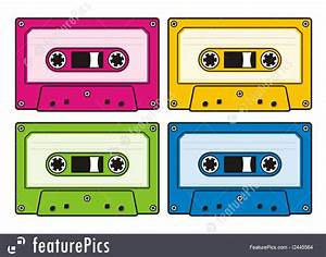 Audio Cassettes Illustration