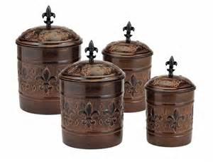 fleur de lis kitchen canisters antique copper fleur de lis kitchen canister set