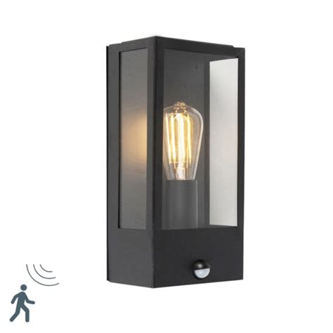 modern outdoor wall l black with motion sensor