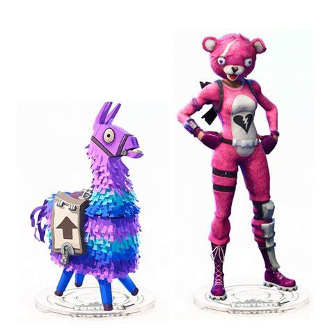 fortnite llama cuddle team leader pink bear skin acrylic