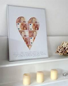 Geldgeschenke Originell Verpacken Herz Aus Scheinen
