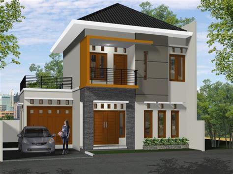 desain rumah minimalis  lantai bagian belakang