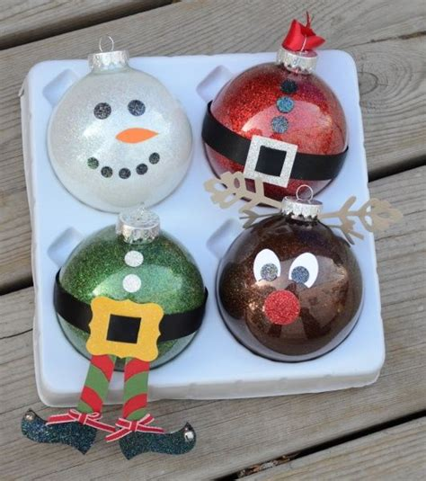 glass ball ornaments school holiday craft sale ideas pinterest