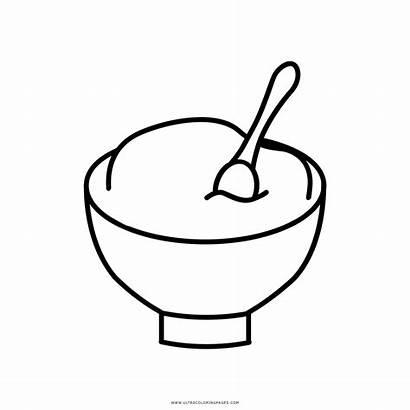 Rice Coloring Colorear Arroz Bol Dibujo Condoleezza