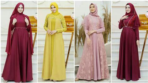 Perempuan model gamis motif polos kombinasi warna. Model Baju Resepsi Pernikahan Modern / 6 Inspirasi Model ...