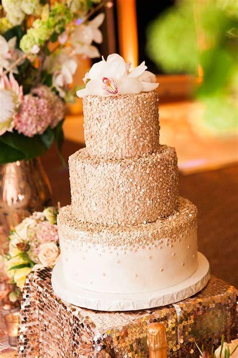 rose gold glamour wedding confetti wedding cake sparkle