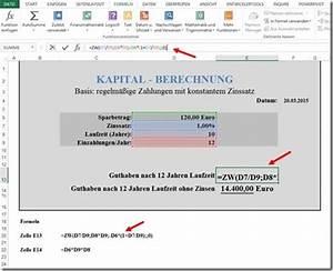 Inflation Berechnen : ppedv team blog excel tipp zinsen berechnen ~ Themetempest.com Abrechnung