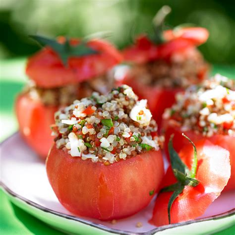 recettes de cuisine sur 3 tomates farcies au quinoa facile et pas cher recette