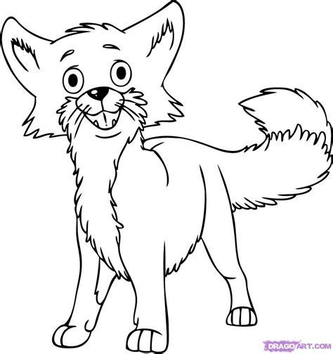 draw  cartoon fox step  step cartoon animals