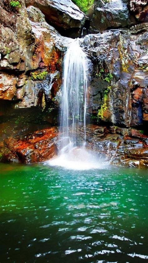 Wallpaper Iphone 7 Water Fall by Nature Plunge Pool Landscape Iphone 6 Plus Wallpaper