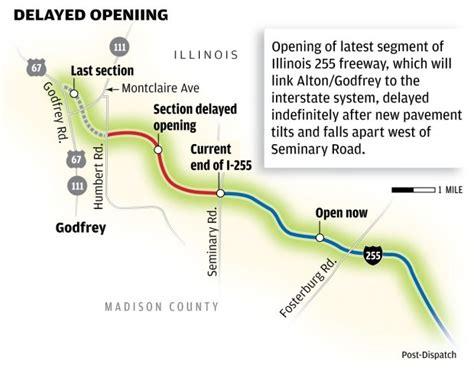 Illinois 255 construction near Alton halted by ...