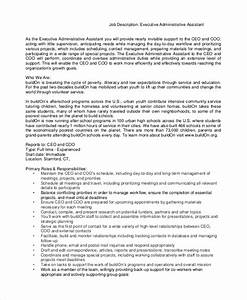 Executive Assistant To Ceo Resume Sample Executive Assistant Job Description 8 Examples