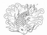 Fish Coloring Koi Educative Bestappsforkids sketch template