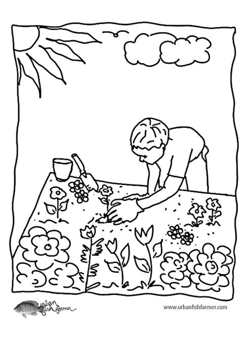 gardening pictures to colour free gardening coloring pages