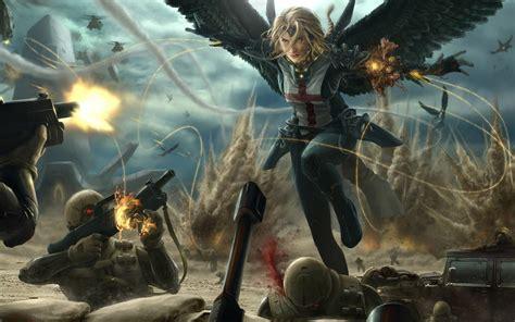 angels women battle angel draw  artwallpaperhi