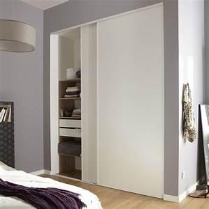 Comment Faire Un Placard Mural : lot de 2 portes de placard coulissante optimum x cm leroy merlin ~ Dallasstarsshop.com Idées de Décoration