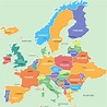 Map Of Europe Labeled With Capitals