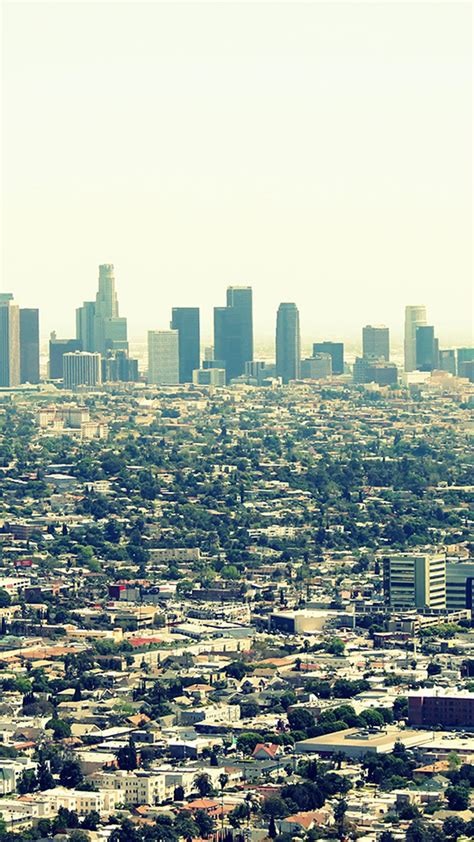 los angeles city view android wallpaper