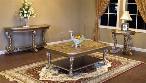 alya rectangle coffee table set toronto  living room
