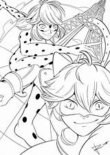 Ladybug Miraculous Coloring Kleurplaat Heros Pages Noir Bug Paris Tales Cat Lady Chat Drawing Desenhos Anime Inktober Colouring Sheets Days sketch template